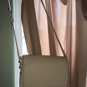 Handbags - tan long strap cross body